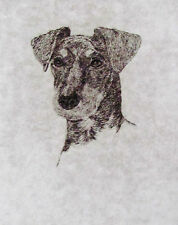 GEOFFREY LASKO - MANCHESTER TERRIER DOG - LISTED ARTIST ETCHING -S&N - FREE SHIP
