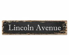 SP0559 LINCOLN AVENUE Street Sign Home Cafe Store Shop Bar Chic Decor Gift