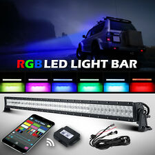 5D+ 32inch 420W CREE RGB Led Light Bar Strobe Flash Multi Color Halo Ring Bar 42