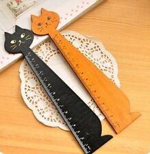 FD932 Korea Kawaii Cute Cat Animal Face Stationery Wood Ruler Sewing Ruler ~1pc~