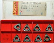 8 Stück Wendeschneidplatten Wendeplatten Sandvik R166.OG-16MM01-200 S10T P10