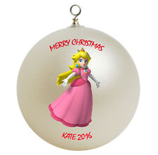 Personalized Super Mario Princess Peach Christmas Ornament Gift Add Childs Name