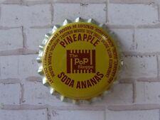 Old Beer Bottle Crown Cap ~ The POP SHOPPE Pineapple Soda Pop ~ Toronto, CANADA