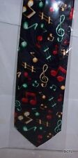 Musical notes on navy tie