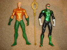 DC Collectibles New 52 Aquaman Green Lanter Heroes Pack Metallic Version staff