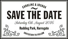 Personalised Vintage SAVE THE DATE Rubber Stamp + Black Ink Pad