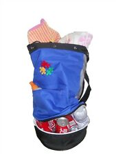 Autism ASD Awareness Puzzle Piece ~ Beach Bag with Cooler ~  Picnic Tote RED