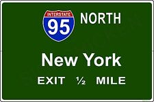 Mini Interstate Road Sign - New York - I95 NEW YORK CITY - ALUMINUM SIGN, gift