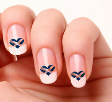 20 Nail Art Decals Transfers Stickers #270 - Scotland Flag Heart