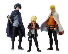 HGEX BORUTO Figure Set of 3 BORUTO, NARUTO, SASUKE Bandai #With Tracking Japan