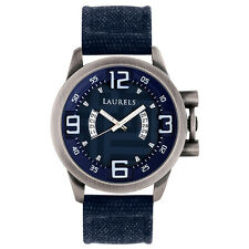 Laurels Europha Analog Blue Dial Men's Watch - Lo-Eu-203