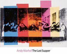 Detail of The Last Supper 1986 by Andy Warhol Religious Art Print Poster 23.5x30