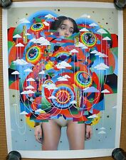 Erik Jones 'Controller' Hand-embelished print + Takashi Murakami or Banksy pin