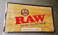 "New RAW Brand Bamboo Floor Door Mat Tobacciana 30"" x 17 1/2"" Inches"