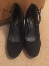 Primark Wide Fit Black Shoes Size 5