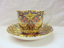 Large size breakfast cup and saucer in william Morris Strawberry thief design