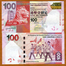 Hong Kong, $100, 2012, HSBC, P-213-New, UNC   Lion