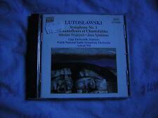 Witold Lutosławski Naxos CD Lutoslawski Symphony No. 1, Chantefleurs Antoni Wit
