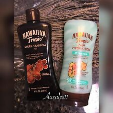 ((2))Hawaiian Tropical Dark Tanning Oil -Original-8oz   Silk Hydration   6 oz ~