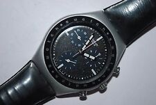 Swatch Watch Irony Chrono Medium YMS-1000 EBONITE Men's 2000 Ladies Swiss Quartz