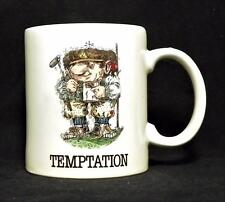 Temptation Coffee Mug by Gary Patterson 1984 Sports Collection VGUC