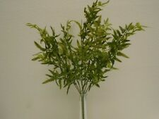 "2 Bushes Mini Fern 7 Stems Artificial Plastic 22"" Plant Greenery 5935GN"