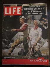 Life Magazine The Adamses Relax What Hoffa Says He'll Do May 1959