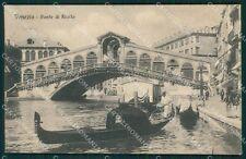 Venezia Città Ponte Rialto Gondole cartolina XB0612