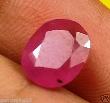 1.66 CT BURMA RUBY 100% Natural GIE Certified Marvelous Quality Oval Shaped Gem