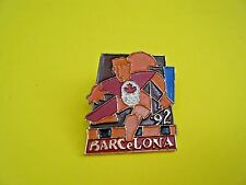 Olympic Pin Barcelona Spain 1992 Canada Canadian Maple Leaf '92 Summer Games New