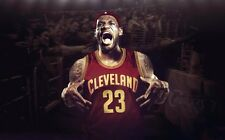 "Lebron James Basketball Star Fabric Poster 40"" x 24"" Decor 155"