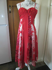 MONSOON DRESS RED SIZE 8