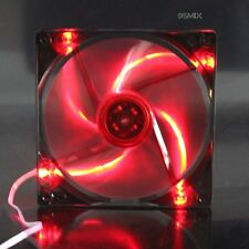 140mm 14cm Red LED Case Fan 12V DC 89CFM