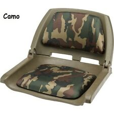 Boat Seats Fold Down Camo Padded Seat Bass Fishing Boats Accessories Parts