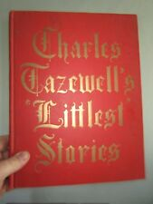 (1962) Charles Tazewell's Littlest Stories. SIGNED vintage childrens book illus
