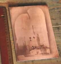 KRANKENLAGER Galvano Kupferklischee Druckplatte Bleisatz imprimerie letterpress