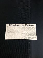 L1-8 Ephemera 1963 Article Betty Midgley Mill Worker Film Star Jayne Mansfield