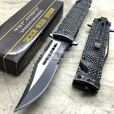 TAC-FORCE Stonewashed Handle Tactical Hunting Rescue Pocket Knife TF-710SW