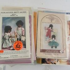 Lot of 25 Sewing Craft Patterns Animals Dolls Clothes Primitive Decor No Dups
