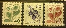 POLAND STAMPS MNH Fi3066-67,87 Sc2917-19 Mi3214-15,35 -Medic.plants-1989,clean
