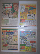 "(4) BICYCLE ADVERTISEMENT ""SCHWINN"" EARLY 1960'S 10X13"""