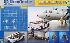 SKUNKMODEL 48003 US Navy MD-3 Tractor w/3 Figuren in 1:48