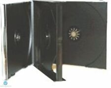 50 x 3 Way Black CD Jewel Case 23mm Spine Holds 3 Discs Replacement case