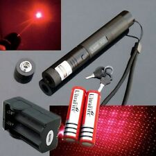 10 Miles 650nm 5mw 303 RED Laser Pointer Lazer Pen Beam Light + 2*18650 +Charger