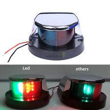 Marine Boat Yacht Navigation Lights 12V LED Bow Stainless Steel Housing Bi-color