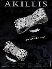 Publicité 2012  AKILLIS collection joaillier bague collier bracelet bijoux