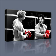 AWESOME ROCKY BALBOA vs IVAN DRAGO ICONIC CANVAS POP ART PRINT by Art Williams
