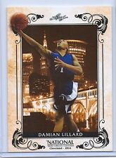 "DAMIAN LILLARD 2014 LEAF ""NATIONAL SPORTS CONVENTION"" RETRO ROOKIE CARD!"