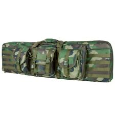 "NcSTAR 42"" Double Carbine Padded Carrying Case Modular MOLLE Webbing Woodland"