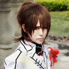 Vampire Knight Kaitou Kiddo Kuran Kaname Brown Short Full Cosplay Wig +Wig cap